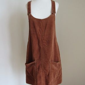 Abercrombie & Fitch brown corduroy overall dress